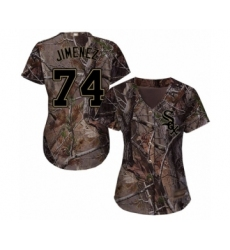 Women's Chicago White Sox #74 Eloy Jimenez Authentic Camo Realtree Collection Flex Base Baseball Jersey