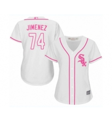 Women's Chicago White Sox #74 Eloy Jimenez Authentic White Fashion Cool Base Baseball Jersey