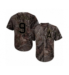 Men's Los Angeles Angels of Anaheim #9 Tommy La Stella Authentic Camo Realtree Collection Flex Base Baseball Jersey