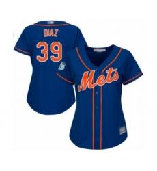 Women's New York Mets #39 Edwin Diaz Authentic Royal Blue Alternate Home Cool Base Baseball Jersey