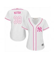 Women's New York Yankees #38 Cameron Maybin Authentic White Fashion Cool Base Baseball Jersey
