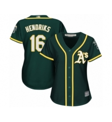 Women's Oakland Athletics #16 Liam Hendriks Authentic Green Alternate 1 Cool Base Baseball Jersey