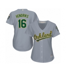 Women's Oakland Athletics #16 Liam Hendriks Authentic Grey Road Cool Base Baseball Jersey