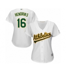 Women's Oakland Athletics #16 Liam Hendriks Authentic White Home Cool Base Baseball Jersey