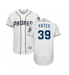 Men's San Diego Padres #39 Kirby Yates White Home Flex Base Authentic Collection Baseball Jersey