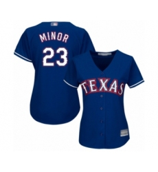 Women's Texas Rangers #23 Mike Minor Authentic Royal Blue Alternate 2 Cool Base Baseball Jersey