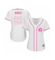 Women's Texas Rangers #23 Mike Minor Authentic White Fashion Cool Base Baseball Jersey