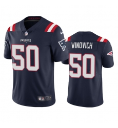 Nike New England Patriots #50 Chase Winovich Men's Navy 2020 Vapor Limited Jersey