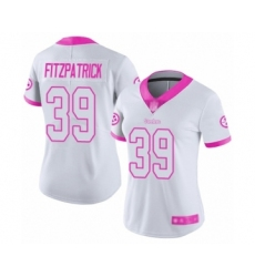 Women's Pittsburgh Steelers #39 Minkah Fitzpatrick Limited White Pink Rush Fashion Football Jersey