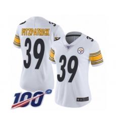 Women's Pittsburgh Steelers #39 Minkah Fitzpatrick White Vapor Untouchable Limited Player 100th Season Football Jersey