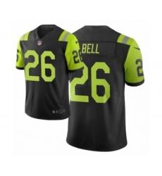 Men New York Jets #26 Le'Veon Bell Black Green City Edition Vapor Limited Jersey