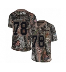 Men's Los Angeles Chargers #78 Trent Scott Limited Camo Rush Realtree Football Jersey
