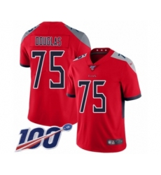 Men's Tennessee Titans #75 Jamil Douglas Limited Red Inverted Legend 100th Season Football Jersey