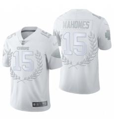 Men's Kansas City Chiefs #15 Patrick Mahomes White Nike Souvenir Edition Limited Jersey