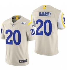 Men's Los Angeles Rams #20 Jalen Ramsey Bone 2020 Vapor Untouchable Limited NFL Jersey