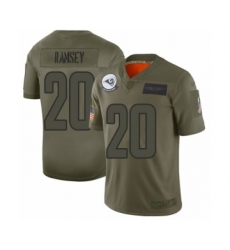 Men's Los Angeles Rams #20 Jalen Ramsey Limited Camo 2019 Salute to Service Football Jersey