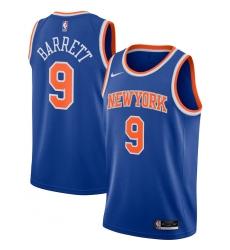 Men's New York Knicks #9 RJ Barrett Nike Blue 2020-21 Swingman Jersey