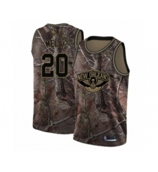 Men's New Orleans Pelicans #20 Nicolo Melli Swingman Camo Realtree Collection Basketball Jersey