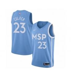 Men's Minnesota Timberwolves #23 Jarrett Culver Swingman Blue Basketball Jersey - 2019 20 City Edition