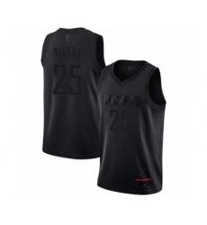 Men's Houston Rockets #25 Austin Rivers Swingman Black MVP Basketball Jersey