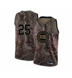 Men's Detroit Pistons #25 Derrick Rose Swingman Camo Realtree Collection Basketball Jersey