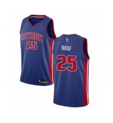 Men's Detroit Pistons #25 Derrick Rose Swingman Royal Blue Basketball Jersey - Icon Edition