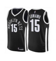 Men's Brooklyn Nets #15 Timothe Luwawu Authentic Black Basketball Jersey - City Edition