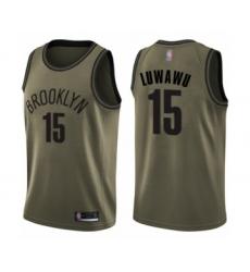 Men's Brooklyn Nets #15 Timothe Luwawu Swingman Green Salute to Service Basketball Jersey
