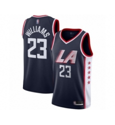 Men's Los Angeles Clippers #23 Lou Williams Swingman Navy Blue Basketball Jersey - City Edition