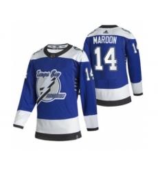 Men's Tampa Bay Lightning #14 Patrick Maroon Blue 2020-21 Reverse Retro Alternate Hockey Jersey