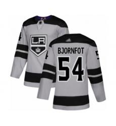 Youth Los Angeles Kings #54 Tobias Bjornfot Authentic Gray Alternate Hockey Jersey