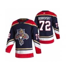 Men's Florida Panthers #72 Sergei Bobrovsky Black 2020-21 Reverse Retro Alternate Hockey Jersey