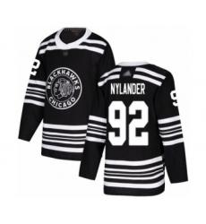 Men's Chicago Blackhawks #92 Alexander Nylander Authentic Black Alternate Hockey Jersey