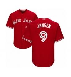 Youth Toronto Blue Jays #9 Danny Jansen Authentic Scarlet Alternate Baseball Player Jersey