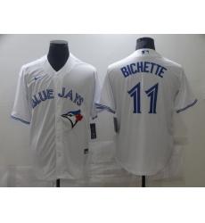 Men's Nike Toronto Blue Jays #11 Bo Bichette White Royal Alternate Stitched Baseball Jersey