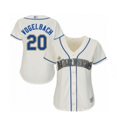 Women's Seattle Mariners #20 Daniel Vogelbach Authentic Cream Alternate Cool Base Baseball Player Jersey