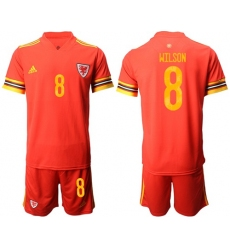 Wales #8 Wilson Red Home Soccer Club Jersey