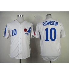 Mitchell And Ness 1982 Expos #10 Andre Dawson White Throwback Stitched Baseball Jersey