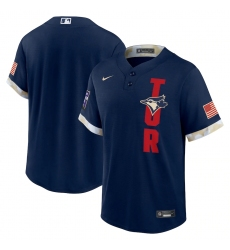 Men's Toronto Blue Jays Blank Nike Navy 2021 MLB All-Star Game Replica Jersey