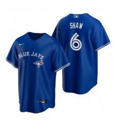 Men's Nike Toronto Blue Jays #6 Travis Shaw Royal Alternate Stitched Baseball Jersey