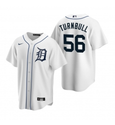 Men's Nike Detroit Tigers #56 Spencer Turnbull White Home Stitched Baseball Jersey