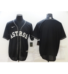 Men's Nike Houston Astros Blank Black Game Alternate Stitched Baseball Jersey