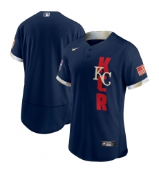 Men's Kansas City Royals Blank Nike Navy 2021 MLB All-Star Game Authentic Jersey