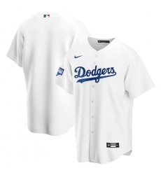 Men's Los Angeles Dodgers Blank Nike White 2020 World Series Champions Home Patch Replica Team Jersey