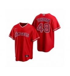 Youth Julio Teheran #49 Los Angeles Angels Red Replica Alternate Jersey