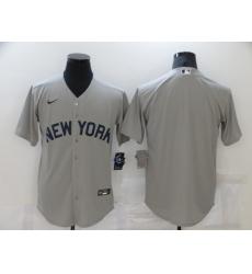Men's New York Yankees Blank Gray Game 2021 Field of Dreams Jersey