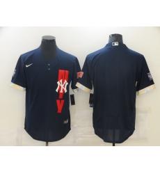 Men's New York Yankees Blank Nike Navy 2021 All-Star Game Replica Jersey