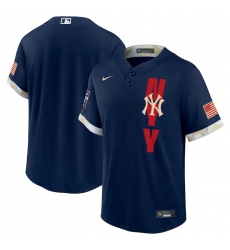 Men's New York Yankees Blank Nike Navy 2021 MLB All-Star Game Replica Jersey