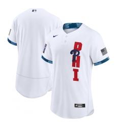 Men's Philadelphia Phillies Blank Nike White 2021 MLB All-Star Game Authentic Jersey