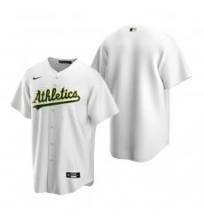 Men's Nike Oakland Athletics Blank White Home Stitched Baseball Jersey